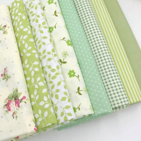 "Fabric Premium- 8 Pieces Green Variety ""Skinny Quarters""-Sewing By Sarah"