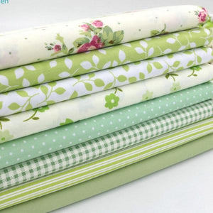 Fabric Premium- 8 Pieces Green Variety