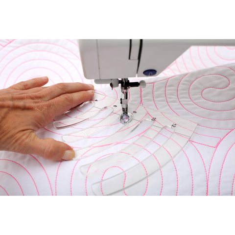 Image of Free Motion Quilting Templates - Circles Set - 4 Pieces (With Ruler Foot)-Sewing By Sarah