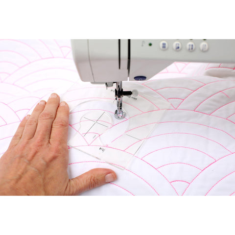 Free Motion Quilting Baptist Fan Set-Sewing By Sarah