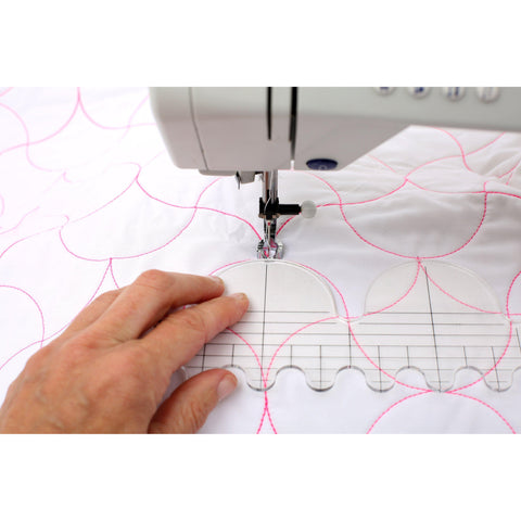 Image of Free Motion Quilting Template 6 Piece Set-Sewing By Sarah