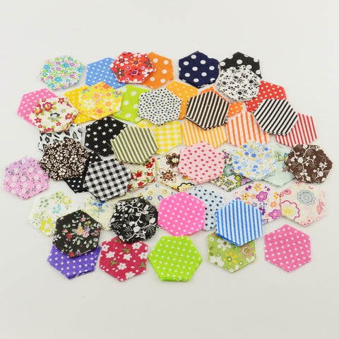 Laser Cut Fabric-Hexagons- 200 Pieces - Ready to Sew-Sewing By Sarah