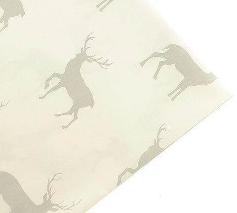 "Neutral Stag/Buck Fabric 40"" x 40""-Sewing By Sarah"
