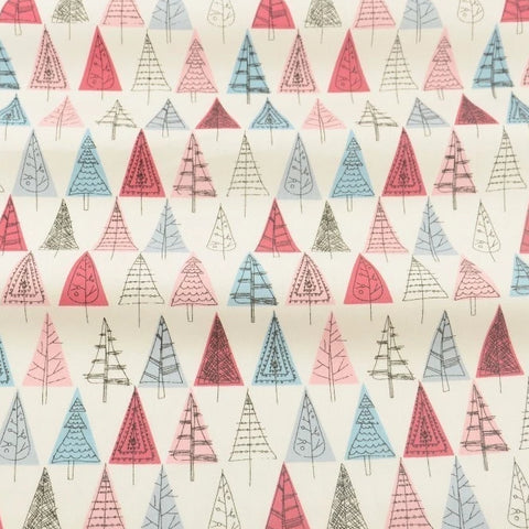Blue and Red Winter Whimsical Trees-Sewing By Sarah