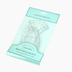 Every Curve Free Motion Quilting Template set-Sewing By Sarah