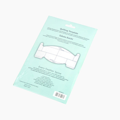 Feather Spine Free Motion Quilting Ruler-Sewing By Sarah