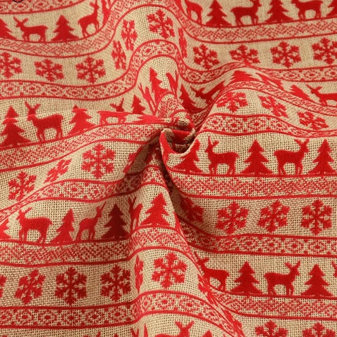 "Image of Linen Fabric Christmas Theme 7PCS/lot 45cmx50cm (17"" x 20"")-Sewing By Sarah"