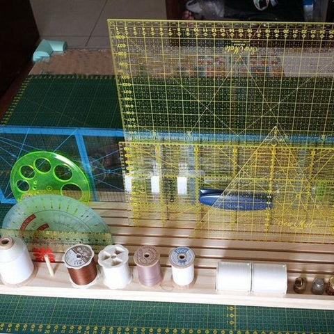 Ruler Rack with Spool Holder-Sewing By Sarah
