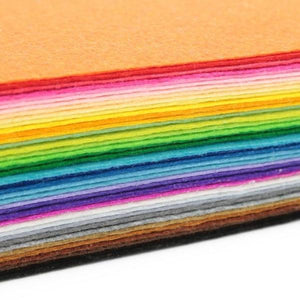 Fabric Essentials - 40 Colors Felt (Large Square Variety Pack)