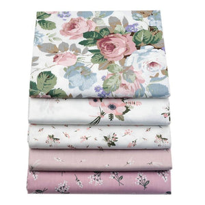 Fabric Premium- 5 Pieces Pale Pink Floral