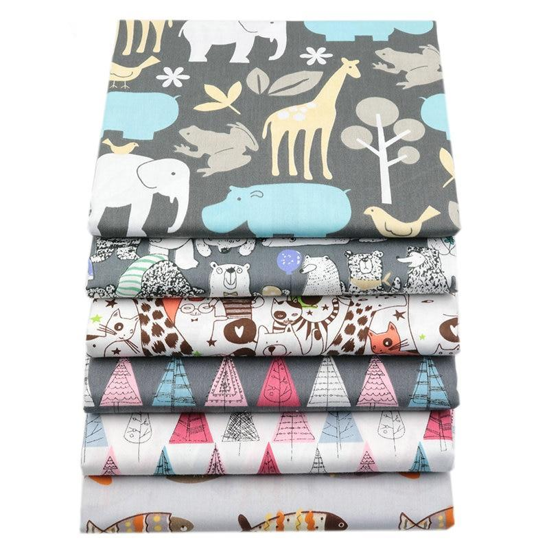 "Fabric Premium- 6 Pieces Animal ""Skinny Quarters""-Sewing By Sarah"