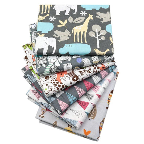 "Fabric Premium- 6 Pieces Animal ""Skinny Quarters"""