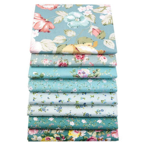 Fabric Premium- 8 Pieces Teal Floral