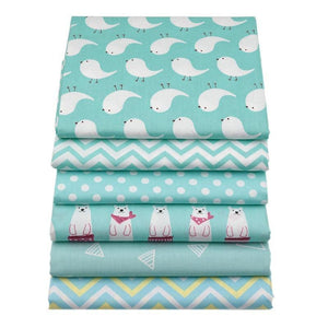 Fabric Premium- 6 Pieces Polar Animal Teal