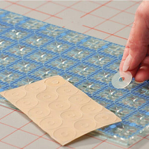 Non-slip Adhesive Grip Rings For Quilting Rulers