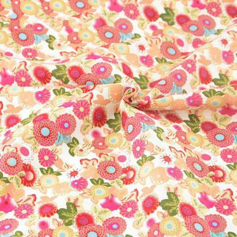 Fabric Premiums - Floral Print B - 4 Piece Bundle-Sewing By Sarah