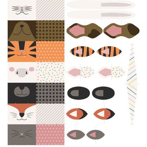 Children's Mask Fabric Panel by Pratique