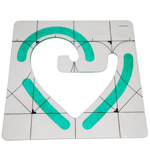 Quilting Ruler/Template Set - 3 Piece Heart/Arc/Patchwork Set