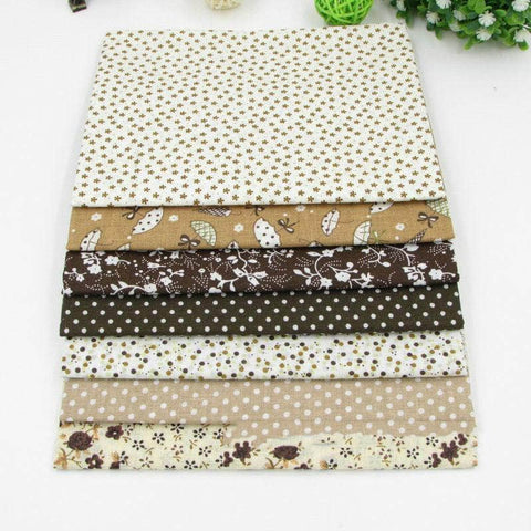 Image of Fabric Essentials - 7 Piece Coffee Cotton Set-Sewing By Sarah