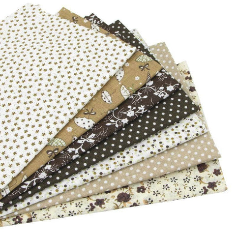 Fabric Essentials - 7 Piece Coffee Cotton Set