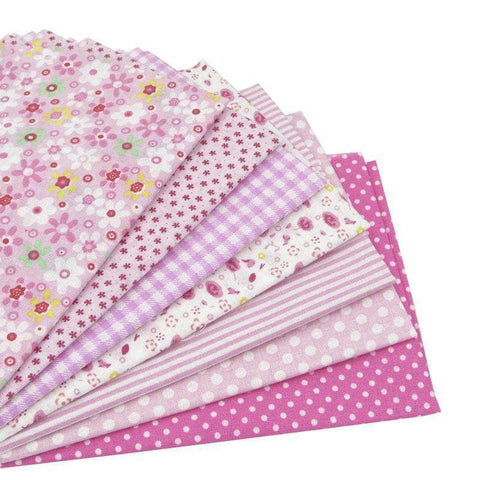 Fabric Essentials - 7 Piece Bundle Pink Cotton Set