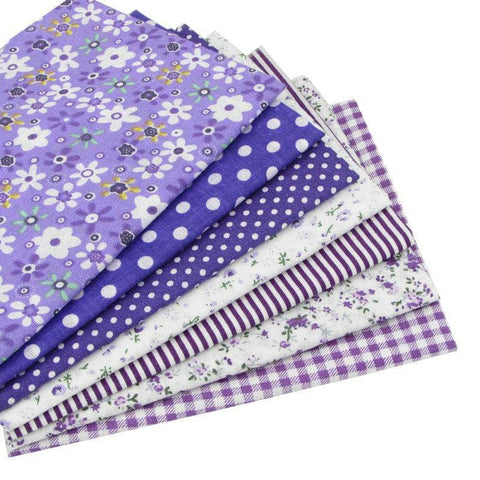 Image of Fabric Essentials - 7 Piece Bundle Purple Cotton Set-Sewing By Sarah