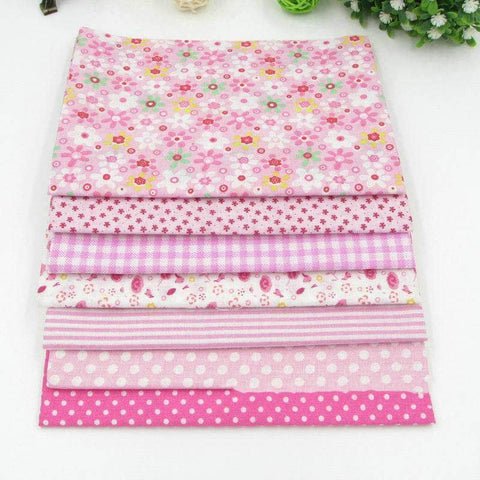 Image of Fabric Essentials - 7 Piece Bundle Pink Cotton Set-Sewing By Sarah