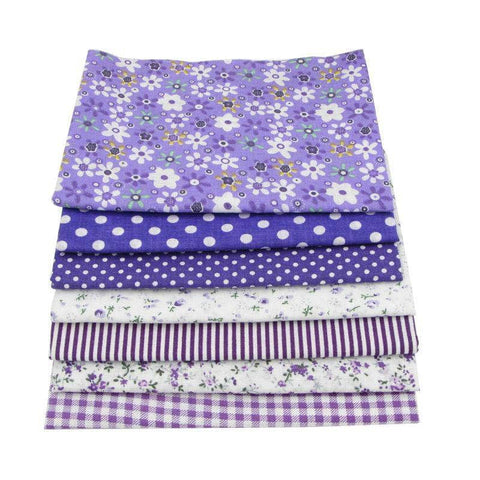 Fabric Essentials - 7 Piece Bundle Purple Cotton Set