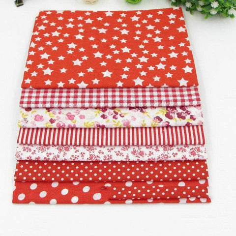 Fabric Essentials - 7 Piece Bundle Red Cotton Set