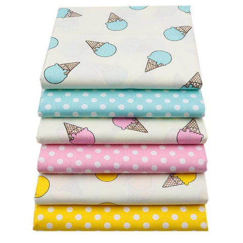 Fabric Premiums - Cartoon Ice Cream Cotton Fabric-Sewing By Sarah