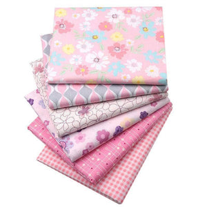 Fabric Premiums - Pink Flower Cotton - 6 Piece Bundle