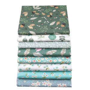 Fabric Premiums - Floral Leaves Fat Quarter - 8 Piece Bundle