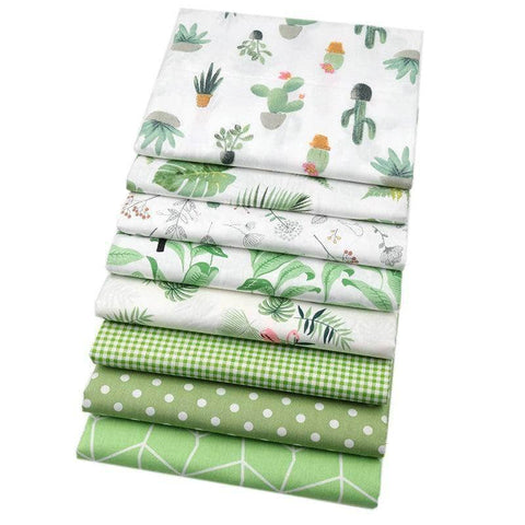 Fabric Premiums - Green Summer Cotton - 8 Piece Bundle-Sewing By Sarah