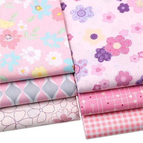 Fabric Premiums - Pink Flower Cotton - 6 Piece Bundle-Sewing By Sarah