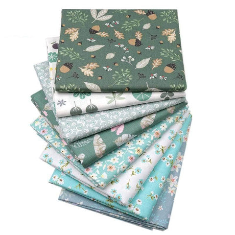 Fabric Premiums - Floral Leaves Fat Quarter - 8 Piece Bundle-Sewing By Sarah