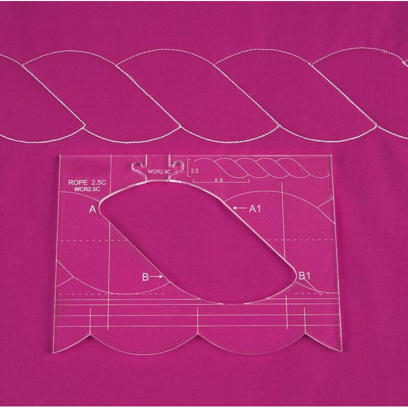 Free Motion Quilting 4 Piece Border Template Set.-Sewing By Sarah