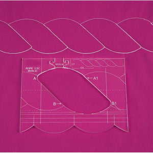 Free Motion Quilting 4 Piece Border Template Set.