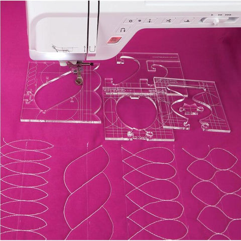 Image of Free Motion Quilting 4 Piece Border Template Set.-Sewing By Sarah