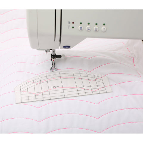 Free Motion Quilting-Straight Line and Arc Template-Sewing By Sarah