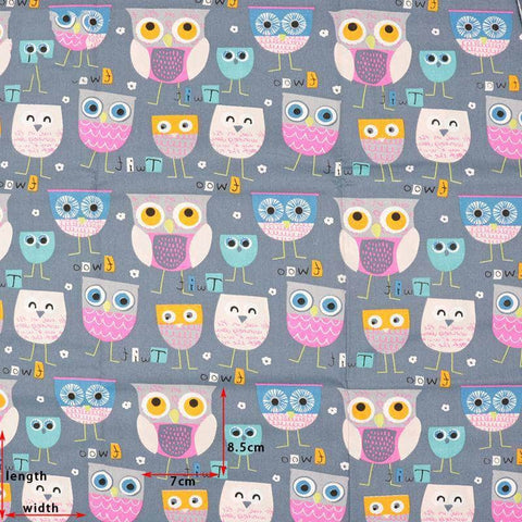 Fabric By The Yard - Owls