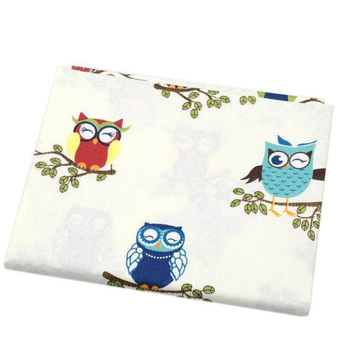 Fabric By The Yard - Owls-Sewing By Sarah