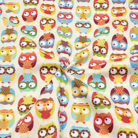 Fabric Premiums - Owl Print Cotton Fabric-Sewing By Sarah