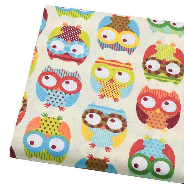 Fabric Premiums - Owl Print Cotton Fabric – Sewing By Sarah