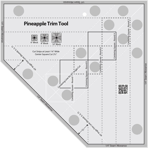 Pineapple Trim Tool 6, 8 or 10-Inch Finished Blocks