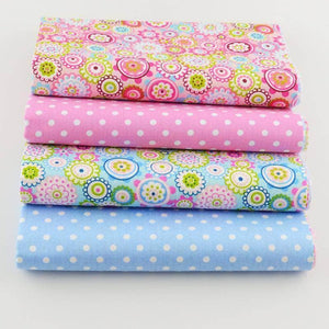 Fabric Premiums - Floral Polka Dots - 4 Piece Bundle-Sewing By Sarah