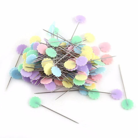 Image of 100 Stainless Steel Quilting Pins