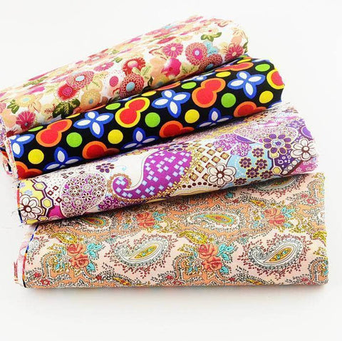 Fabric Premiums - Floral Print B - 4 Piece Bundle