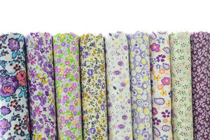 Fabric Premium- 9 Pieces Purple Florals - 20