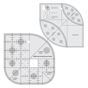 Rounded Corner Double Ruler Set-Sewing By Sarah