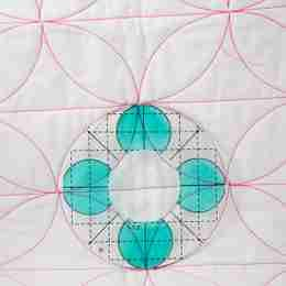 circle ruler for free motion quilting